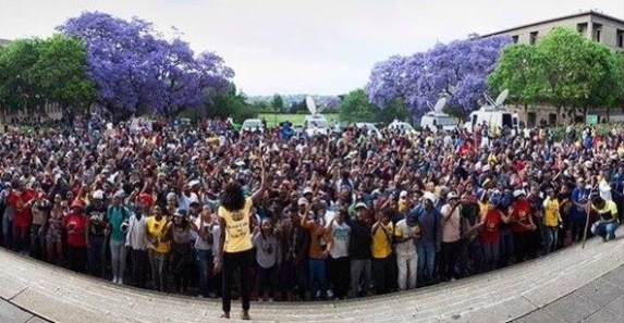 "Ten thousand students protest outside the Union Buildings, the seat of government, in Pretoria, South Africa, in what the London Guardian calls ""the largest single student protest since the 1976 Soweto uprising – an iconic moment in the fight against South Africa's apartheid regime – and participants represented a broad cross-section of the country's racial groups and political parties."""