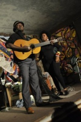 Augusta Lee Collins and Anita Woodley perform at the Black Dot Café. – Photo: Leah J. Viramontes (Clark)