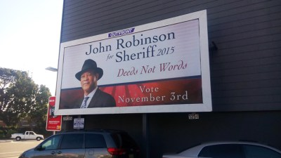 John Robinson for Sheriff billboard 1015, web