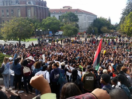 The Nov. 5 rally drew the majority of Berkeley High School student body. – Photo: Lance Knobel, Berkeleyside