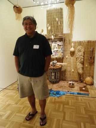 Charles Valorosa, artist, at the Oakland Museum's Dia de los Muertos exhibit – Photo: Wanda Sabir