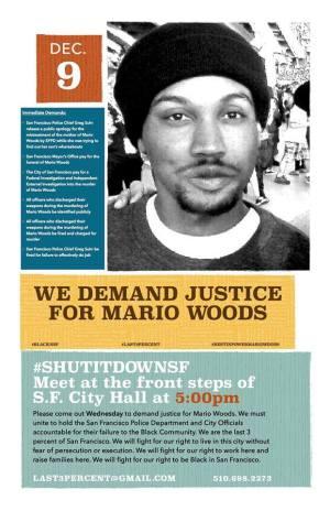 Mario Woods Shutdown SF 120915 poster (1)