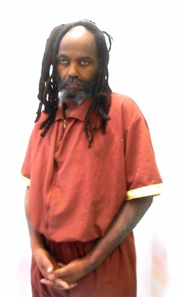 Mumia, no glasses, barely able to stand Mahanoy infirmary 040615