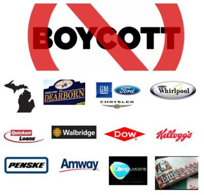 Boycott major Michigan corporations