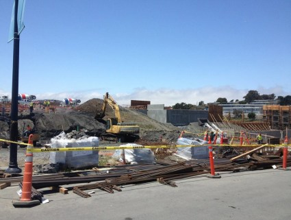 Lennar's construction of condos on Parcel A had finally begun in June 2014, nearly 25 years after the Navy began Shipyard cleanup.