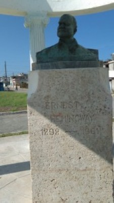 A monument to Ernest Hemingway stands in Cojimar, a small fishing town east of Havana.