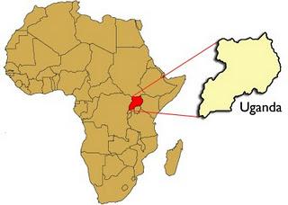 Uganda in Africa map | San Francisco Bay View
