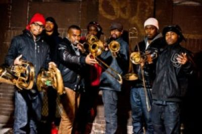 Hypnotic Brass Ensemble performed in Brooklyn in January 2014