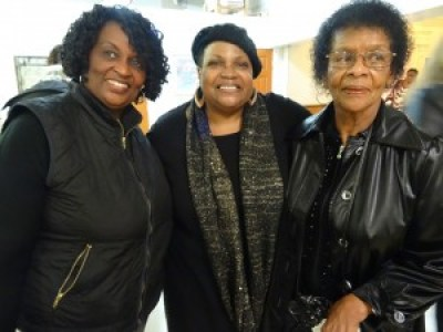 Rev. Cheryl Ward (center) surrounded by cousins at the celebration of 37 years in the ministry, Wednesday, Jan. 27. – Photo: Wanda Sabir