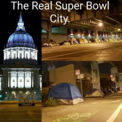 'The Real Super Bowl City' homeless tents 022416 by Oscar Paul Guzman