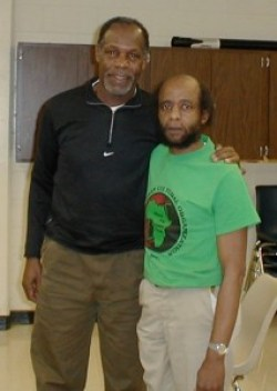 Actor Danny Glover visits Mondo in this relatively recent photo.