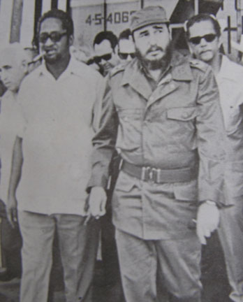 Burnham visits Castro in Cuba in the 1970s.