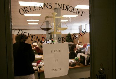 "This photo of the New Orleans public defender's office illustrates a Jan. 15, 2016, New York Times story headlined ""New Orleans Puts Poor on 'Waiting List' for Lawyers, Suit Alleges."" – Photo: Lee Celano, New York Times"