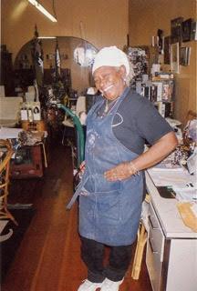 Sister Nida Ali in her shop