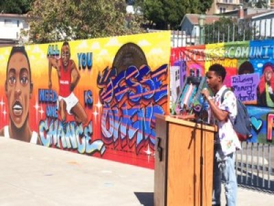 YouthUprising unveiled a mural featuring Jesse Owens last June 26.