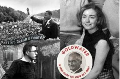 In 1963, Bernie Sanders took part in the historic March on Washington with Dr. King. In 1964, Hillary Clinton supported Barry Goldwater, a Republican right-winger almost as infamous as Trump, for president.