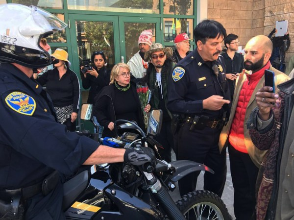 The Frisco 5 have been on hunger strike for over a week outside the Mission Police Station at 17th and Valencia, demanding that Mayor Ed Lee fire SFPD Chief Greg Suhr or resign. – Photo: Edwin Lindo