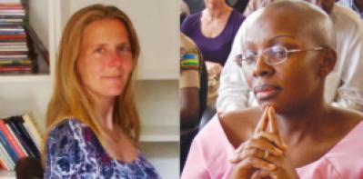Dutch lawyer Caroline Buisman and Rwandan political prisoner Victoire Ingabire