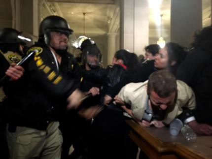 Thirty-three of the May 6 City Hall occupiers were arrested, some brutally, requiring medical attention. – Photo: Shadi Rahimi