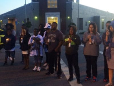 The Sacramento-based Nelson family came to Bayview for the march and healing circle in front of the Bayview Police Station. – Photo: Apollonia Jordan
