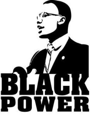 'Black Power' Malcolm X graphic