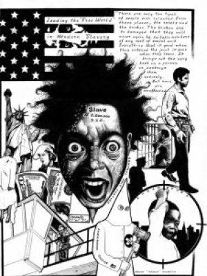 """""""Control Unit Torture"""" – Art: Kevin """"Rashid"""" Johnson, 1859887, Clements Unit, 9601 Spur 591, Amarillo TX 79107"""