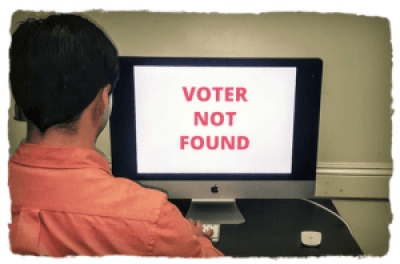 Election poll 'Voter not found'