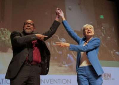 Green Party vice presidential candidate Ajamu Baraka and presidential candidate Dr. Jill Stein – Photo: Elizabeth Conley, Houston Chronicle