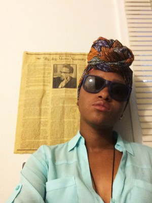 My name is Jonelle, and I'm an Afrikan wombman living in amerikkka. I'm an active member of Guerrilla Mainframe, which is a grassroots organization based in Dallas, Texas, and an administrative assistant to George Jackson University.