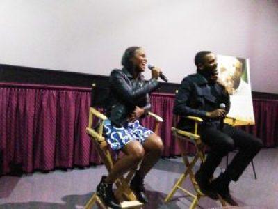 Tika and Parker burst out laughing at their post-screening talk. – Photo: Wanda Sabir