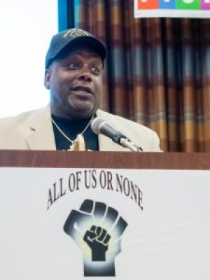 Dorsey Nunn, executive director of Legal Services for Prisoners with Children (LSPC), speaks during the inaugural national conference of the Formerly Incarcerated and Convicted People and Families Movement (FICPFM) on Sept. 9 in Oakland. – Photo: Scott Braley
