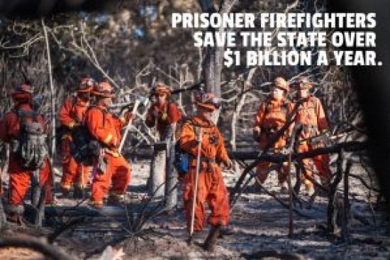 "California's ""liberal"" attorney general opposed reducing vastly overcrowded prisons in California for fear the state would have to pay real wages to fight its wildfires. Though extremely dangerous, firefighting is considered a premium job in California for prisoners, and most of those chosen are not people of color."