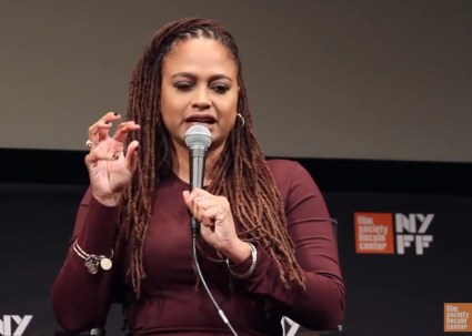 "Ava DuVernay, whose film ""The 13th"" opened the New York Film Festival, speaks to the press Sept. 30. The film is available on NetFlix."