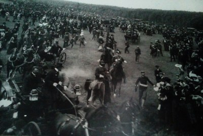 Buffalo Soldiers from the Presidio were on duty in California's national parks before the creation of the National Park Service. In 1903 they served as the honor guard for President Theodore Roosevelt on the Presidio parade ground.