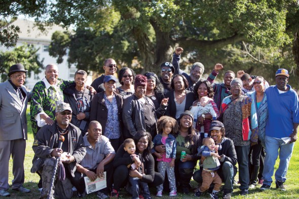 After waiting years, Bobby Hutton's family celebrates the formal renaming of part of deFremery Park as Bobby Hutton Grove. – Photo: Malaika Kambon