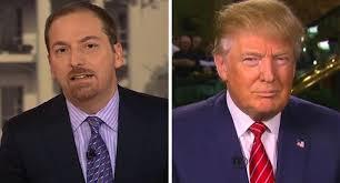 NBC Anchor Chuck Todd and President-elect Donald Trump