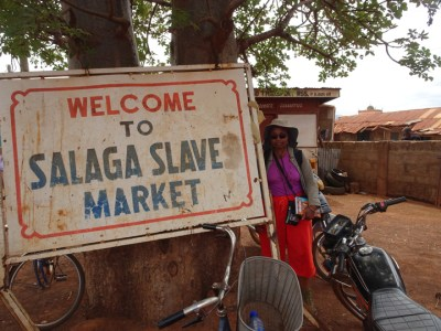 Tracing the slave trade in Ghana, Wanda encountered what was once the Salaga Slave Market. – Photo: Wanda Sabir