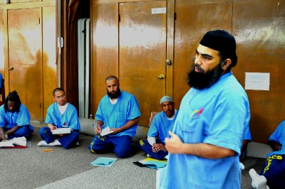 """black singles in san quentin J cole, dreamville president ibrahim """"ib"""" hamad and others visit san quentin inmates in san francisco, ca."""
