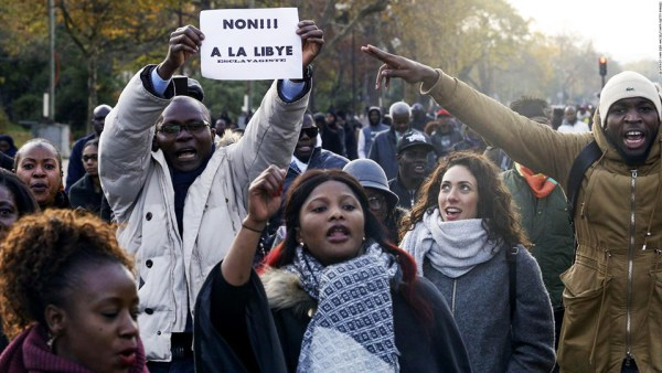 Paris: Protests erupt against slavery in Libya