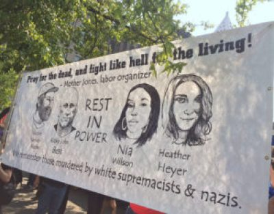 Anti-fascists outnumber, outlast and drown out Patriot