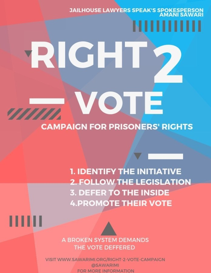 Right2Vote-poster, Right2Vote Campaign update, World News & Views