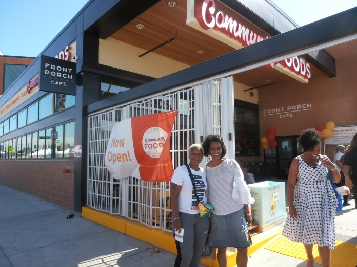 Evelyn-Threet-Oakland-School-Bd-member-Jumoke-Hinton-celebrate-grand-opening-Community-Foods-3105-San-Pablo-Oakland-0619-by-Jahahara, Reparations now! Pass HR 40!, Culture Currents