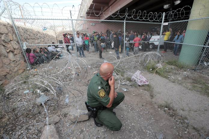 People-fleeing-violence-and-starvation-find-no-refuge-at-the-border-by-Tiny, Caging poor people: Occupied Land Truth Tour through Southwest Turtle Island, National News & Views