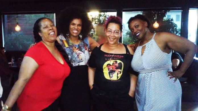 At-party-after-Afroblackness-at-Loyola-writers-Crystal-Connor-Walidah-Imarisha-Sumiko-Saulson-Kinitra-Jallow-nee-Brooks-PhD-0315, #HugosSoWhite: The literary convention diversity scandals, Culture Currents