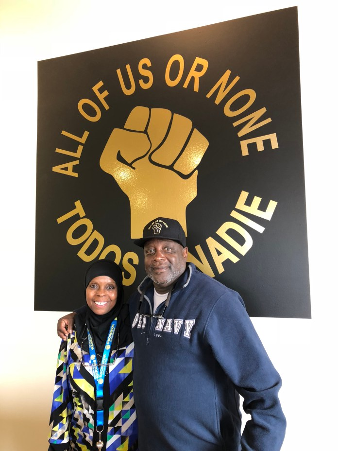Freedom-Movement-Center-All-of-Us-or-None-AOUON-wall-Hamdiya-Cooks-Abdullah-Dorsey-Nunn-090118-by-Wanda, Freedom and Movement Center celebrates its first anniversary Aug. 31, Local News & Views