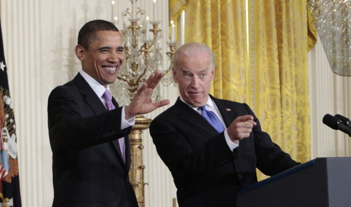 Obama-confident-Biden-obsequious-greeting-crowd-2017-by-Charles-Dharapak-AP-1, Biden and the Black vote, National News & Views