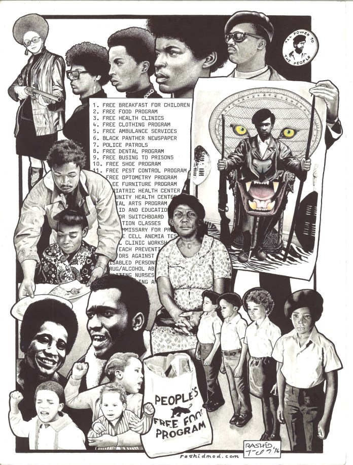 Black-Panther-Party-Programs-art-by-Rashid-1016, On Pan Afrikanism: Interview with Comrade Rashid by JR Valrey of Block Report Radio, Behind Enemy Lines