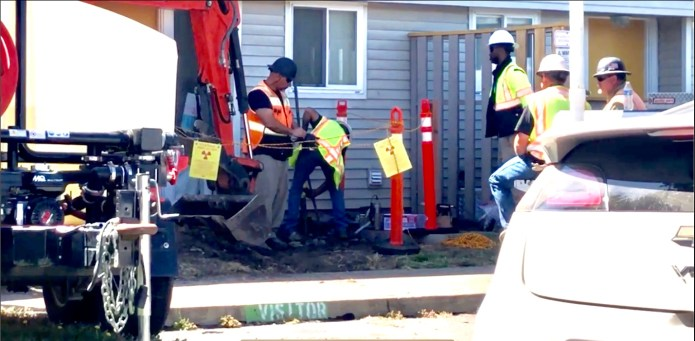 Treasure-Island-1203A-Bayside-Drive-–-man-appears-to-be-digging-something-out-of-the-ground-by-TI-resident, Navy removes an estimated 163+ new radiation deposits from two toxic dumps and dangerously radioactive soil from under occupied Treasure Island home, Local News & Views