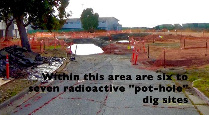Treasure-Island-group-of-'pothole'-dig-sites, Navy removes an estimated 163+ new radiation deposits from two toxic dumps and dangerously radioactive soil from under occupied Treasure Island home, Local News & Views