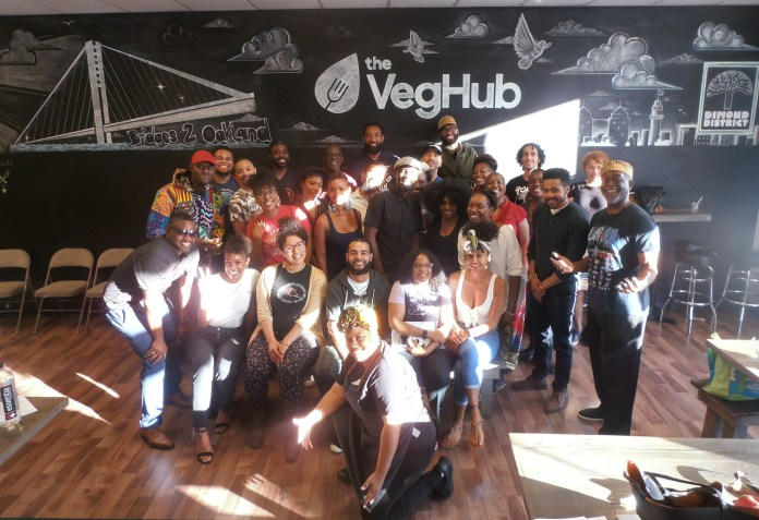 AfroVegans-at-Veg-Hub-w-Chef-G.W.-Chew-on-MacArthur-near-Fruitvale-Oakland-by-Jahahara, Support the Bay View and our righteous movements!, Culture Currents